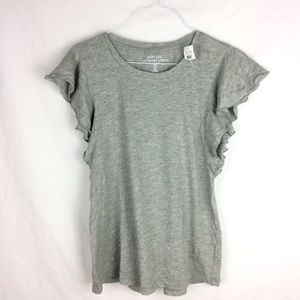 NEW WITH TAGS Gap Gray Butterfly Sleeve Top
